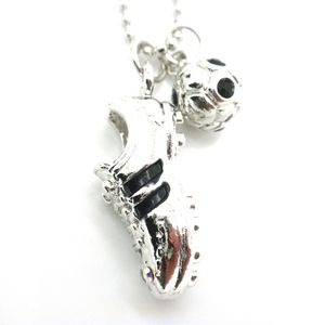 Jewelry - Soccer Necklace Crystal Pendant Charms